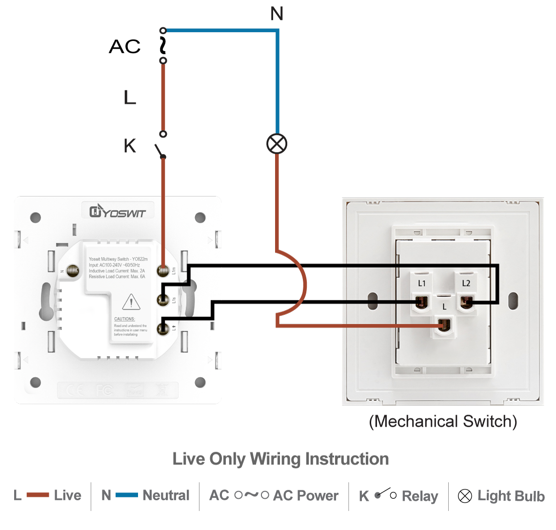 Wiring 3 Way Switch With 2 Wires