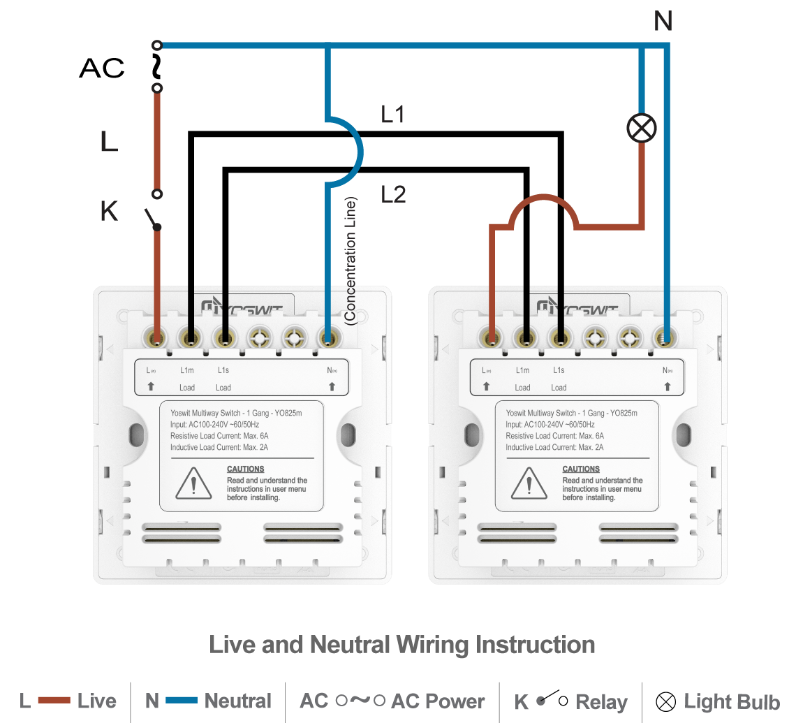 smart 3-way switch - socket 86 - 1 gang